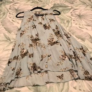 Free people button neck tunic